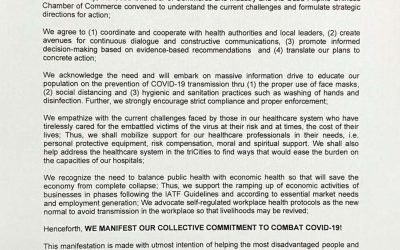 Joint Manifesto of the Church/Archdiocese of Cebu, The Cebu Medical Society, CCCI, and the CFCCC on a United Battle to Fight the COVID-9 Pandemic