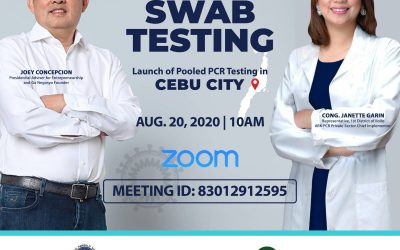 Launch of Go Negosyo Project Ark PCR Pooled Testing in Cebu City