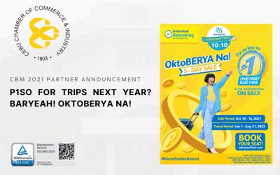 (CBM 2021 PARTNER ANNOUNCEMENT) P1SO for trips next year? BarYEAH! OktoBERYA na!